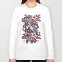 patriotic Long Sleeve T-shirts featuring Patriotic Pattern by Aron Gelineau