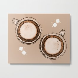 Double Cappuccino Metal Print