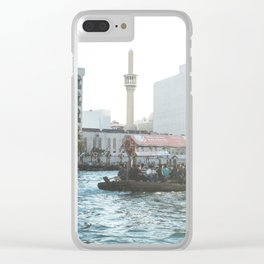 Traditional boat ride in Dubai Clear iPhone Case