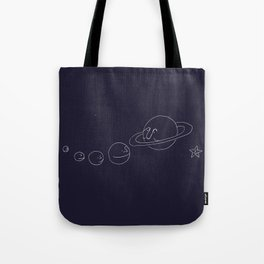 Smiling Solar System - Navy Tote Bag
