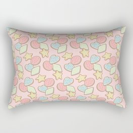 The Shape of Cookies (on pink) Rectangular Pillow