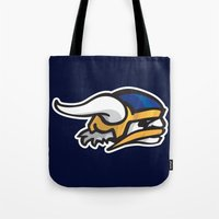 vikings Tote Bags featuring Norwegian Vikings Logo by Griffey Challenge