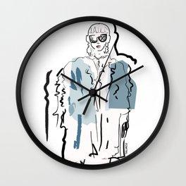 Fur Girl #3 Wall Clock