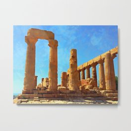 Sicily, Agrigento and the Valley of the Temples Metal Print