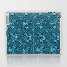 Chameleon Oneness in Midnight Vintage Psychedelic Blue Space Laptop & iPad Skin