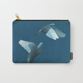 Geometric Pigeon - Modern Animal Art Carry-All Pouch