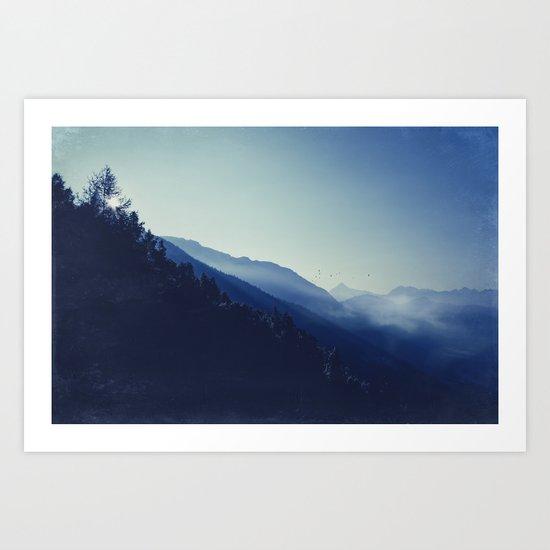 daybreak blues Art Print