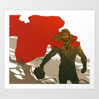 thor Art Prints featuring Thor by Pulvis
