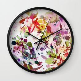 multicolore abstract fuchsia Wall Clock