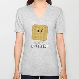 I Love You A Waffle Lot! Unisex V-Neck