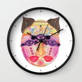 watch my lips mask Wall Clock