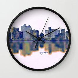 Reno Skyline Wall Clock