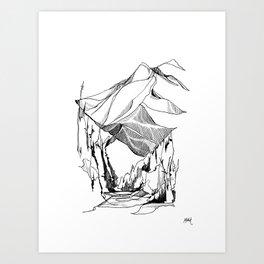 Mount Baker River Bends Art Print