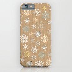 snow flakes pattern iPhone 6s Slim Case