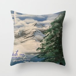 Faith Can Move Mountains Throw Pillow