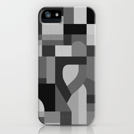 Langley Tex Black and White iPhone Case