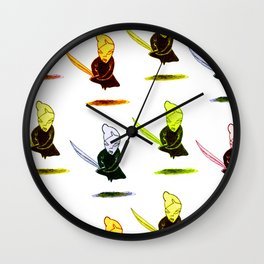 onna-bugeisha colorful Wall Clock