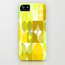 Pale Yellow Poinsettia 1 Abstract Circles 3 iPhone Case