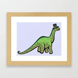 Fancy Dinosaur Framed Art Print