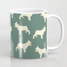 French Bull Dog in Hunter Green Coffee Mug