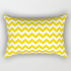 Chevron (Gold/White) Rectangular Pillow