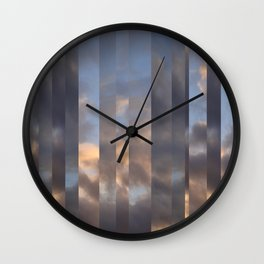 Striped Clouds Wall Clock