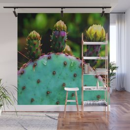 Cactus In The Garden Wall Mural