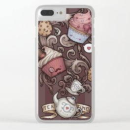 Morning Breakfast Coffee Clear iPhone Case