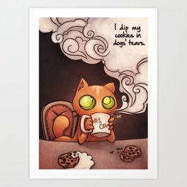 Cookies and cat Art Print