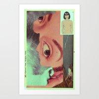 postcard Art Prints featuring Postcard #34 by Jon Duci