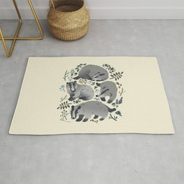 Badgers of the forest Rug