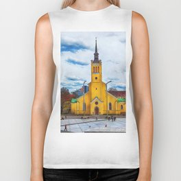 Tallinn art 5 #tallinn #city Biker Tank