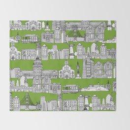 San Francisco green Throw Blanket