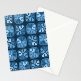 blue boomerangs Stationery Cards