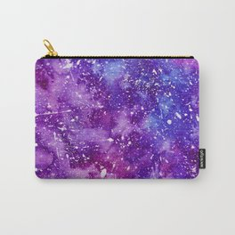 Artistic white paint splatters pink purple watercolor Carry-All Pouch