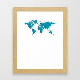 Weltkarte Geschenk Framed Art Print