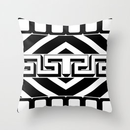 PLAIN BLACK AND WHITE MODERN ART ABSTRACT DESIGN Throw Pillow