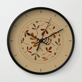 Fall Color Assorted Leaf Silhouettes Wall Clock