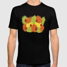 Autumn Leaves And Ladybugs MEDIUM Mens Fitted Tee Black