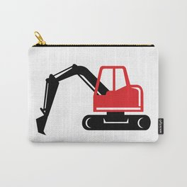 Mechanical Excavator Digger Retro Icon Carry-All Pouch