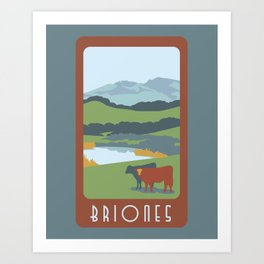 Briones Travel Poster Art Print