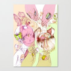 These Were Our Dialogs Of Sweet Surrender Canvas Print