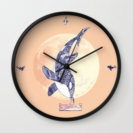 Kiss Good Night - Orca II Wall Clock