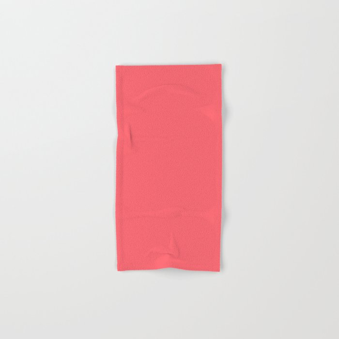 Coral Red Hand & Bath Towel