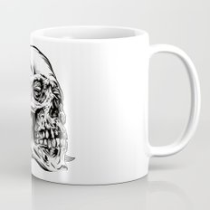 Skull Flower Art Print Mug
