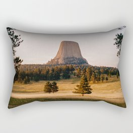 Devil's Tower, Wyoming - shot on film Rectangular Pillow