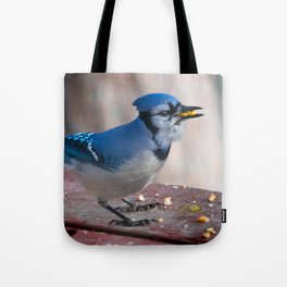 March Blue Jay Tote Bag