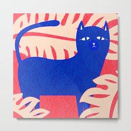 Cat Foliage 02 Metal Print