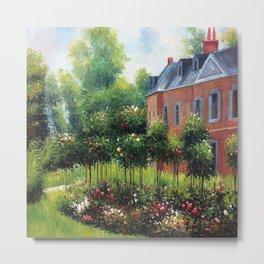 Pierre-Auguste Renoir's The Rose Garden at Wargemont Metal Print
