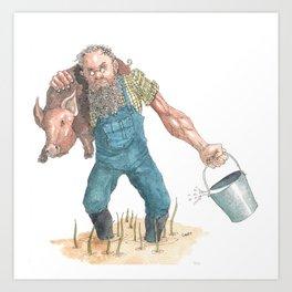 Pig Farmer Art Print